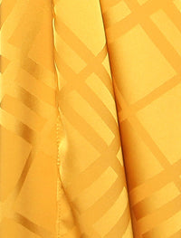 Lux Square Plaid Silky Satin - Sunshine Gold