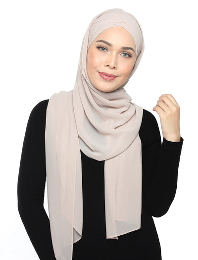 Lux Turban Chiffon Shawl - Powder Puff