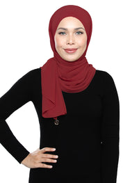 Lux Square Chiffon Shawl - Red