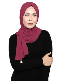 Lux Square Chiffon Shawl - Rose