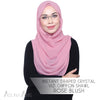 Instant Draped Crystal Vizi Chiffon Shawl - Rose Blush