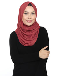Silky Satin Snood - Cedar Wood