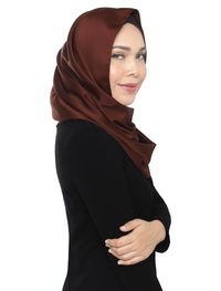 Silky Satin Snood - Chocolate
