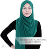 Instant Silky Satin Shawl - Shady Green