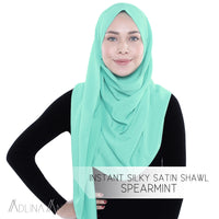 Instant Silky Satin Shawl - Spearmint