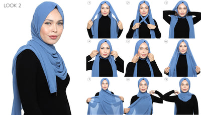Lux Square Chiffon Shawl - Black