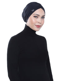Aqua Sol Swim Turban - Black