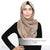 Matte Satin Snood Grande - Tan