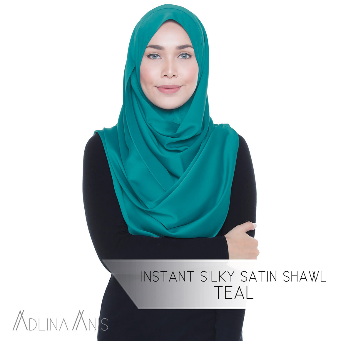Instant Silky Satin Shawl - Teal