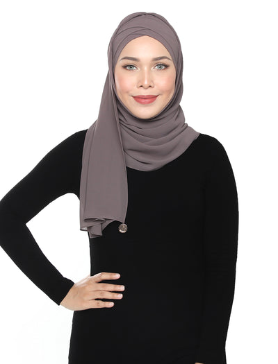Lux Turban Chiffon Shawl - Thistle Grey