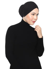 Basic Turban Underscarf - Black