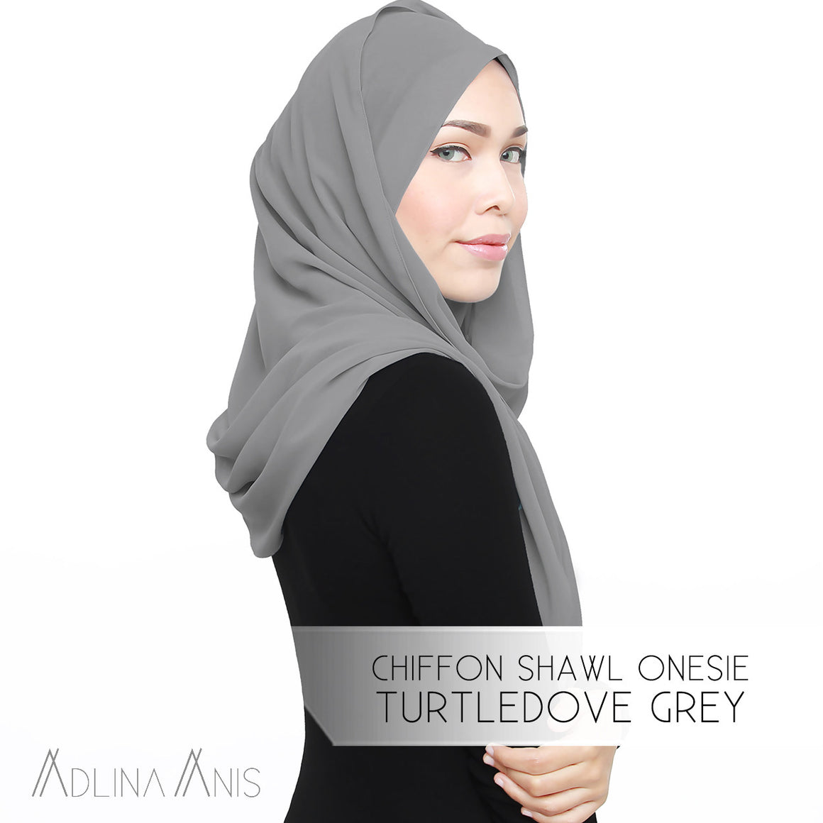 Chiffon Shawl Onesie - Turtledove Grey