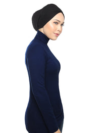 Turtleneck Basic Top - Navy
