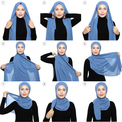 Lux Square Chiffon Shawl - Powder Puff
