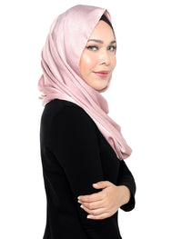 Velvet Satin Snood - Quartz Pink