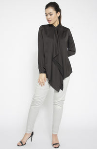 Waterfall Satin Blouse