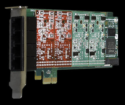 4 port Analog PCI-E Card with 4 x