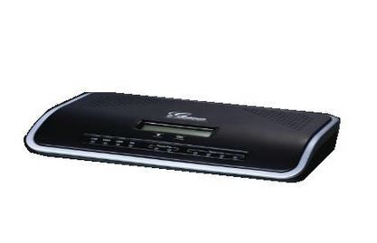 Grandstream - UCM6202 VoIP SIP PBX, NAT router, 2 x FXS, 2 x FXO, 2 x Gigabit Ethernet, USB, SD, AC + PoE+, 128x32 pixel LCD, up to 30 concurrent calls.