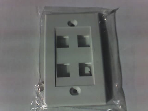 OEM Empty flush mount wall plate for Cat5e