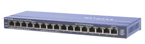 Netgear ProSafe 16-port 10/100 Desktop Switch with 8-port