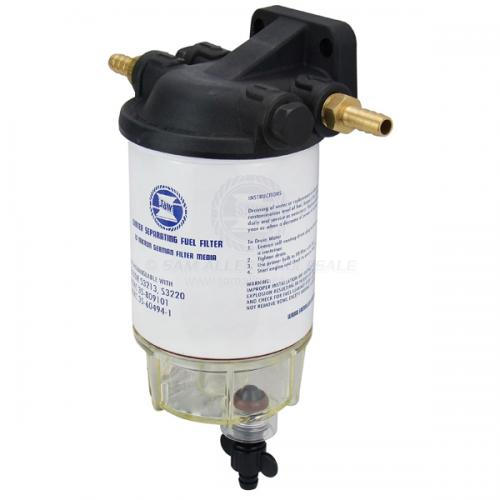 SAW Mercury Replacement Water Separating Fuel Filter Element with Clear Bowl and Head 35-60494-1 & 35-807172