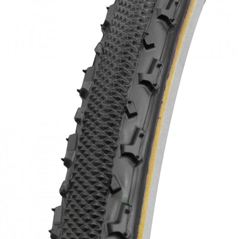 Challenge Chicane Tire: Handmade Clincher Open Tubular, 700x33, 300tpi, Black/Tan