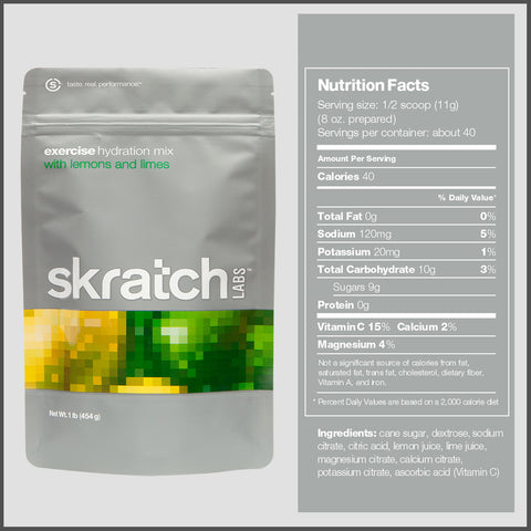 Skratch Hydration Exercise Lemon Lime Bag