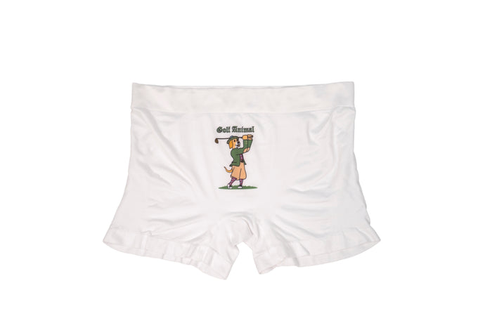 Sporty Men's White Underwear - Golf Animal (Dog)