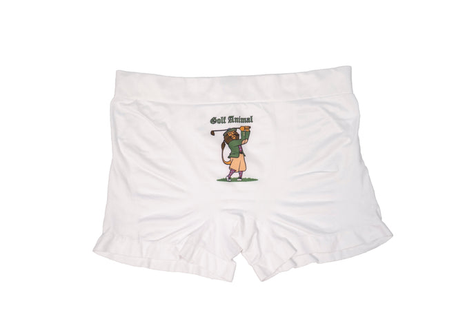 Sporty Men's White Underwear - Golf Animal (Lion)