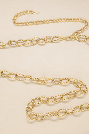 Playa Gold Chain Link Belt
