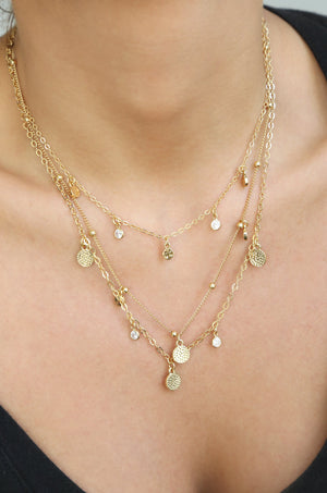 Crystal Triple Layer Necklace