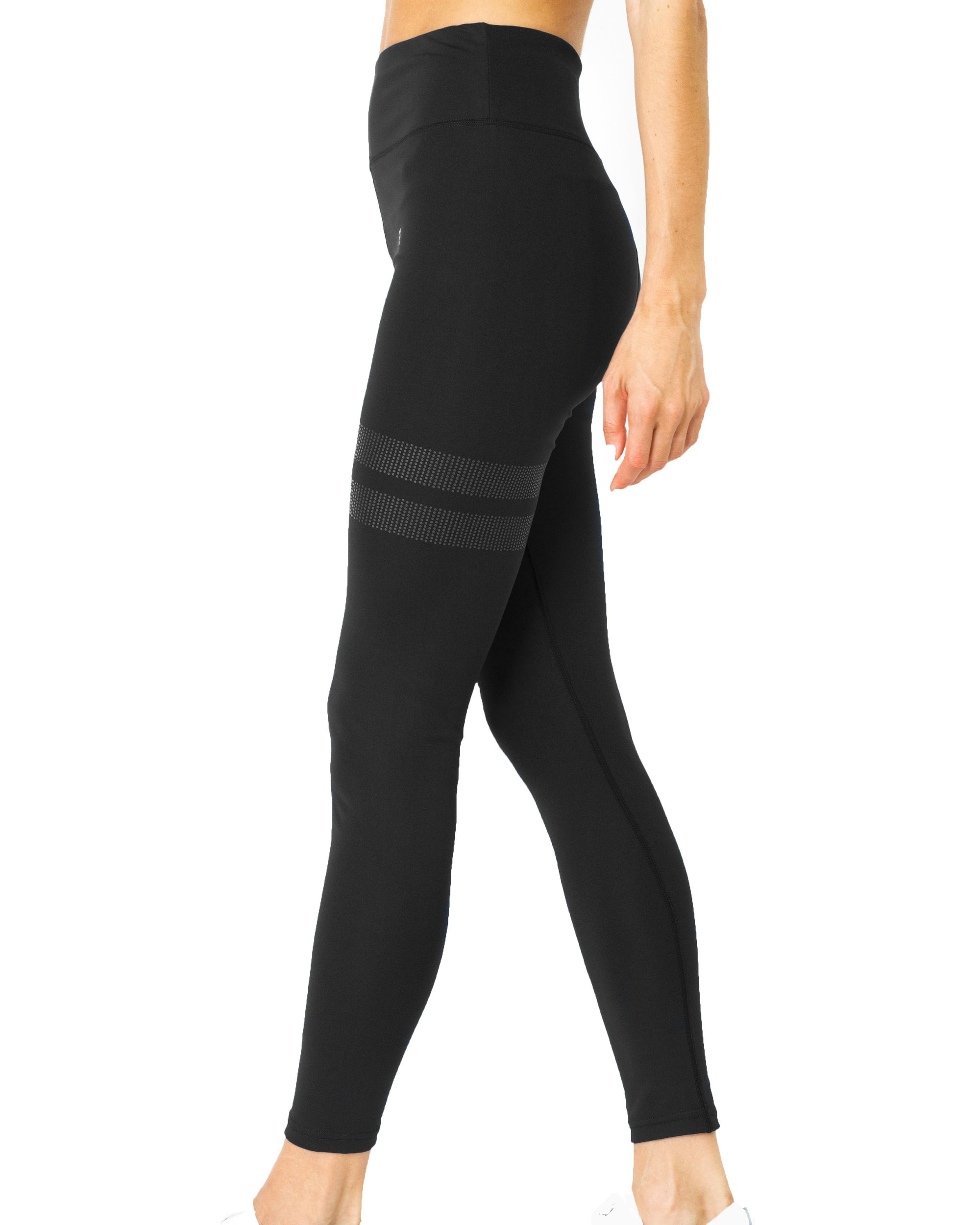 Playa Tonal Stripe Leggings  Black