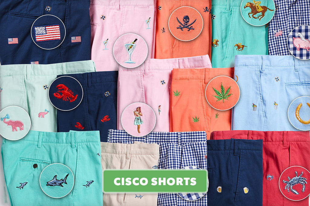 Men's Embroidered Shorts, Cisco Shorts