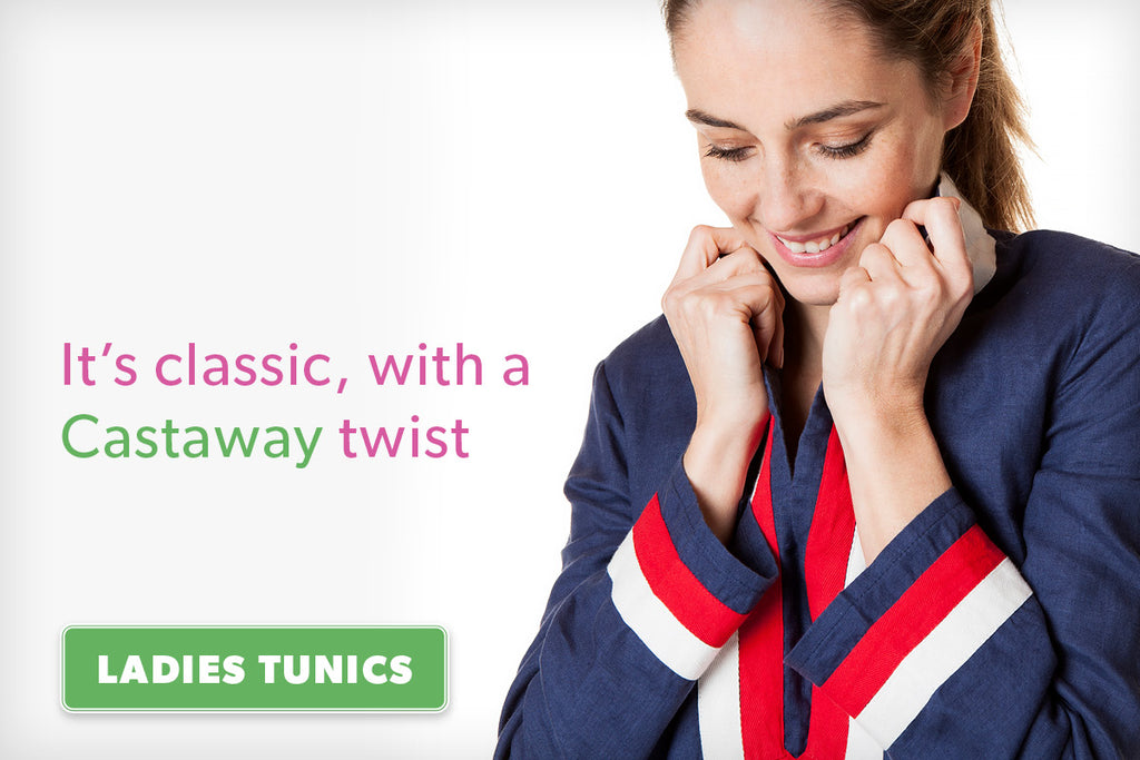 It's classic, with a Castaway twist. Ladies Tunics.