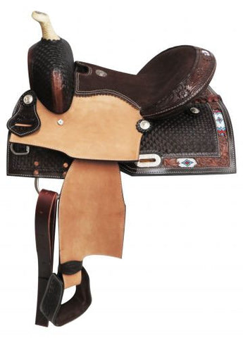 "13"" Double T  Youth Saddle With Beaded Inlay - 670513"