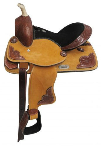"13"" Double T Youth Suede Leather Saddle -  670613"