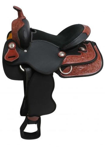 "13"" Synthetic Youth Saddle With Leather Trim Accents - 671513"