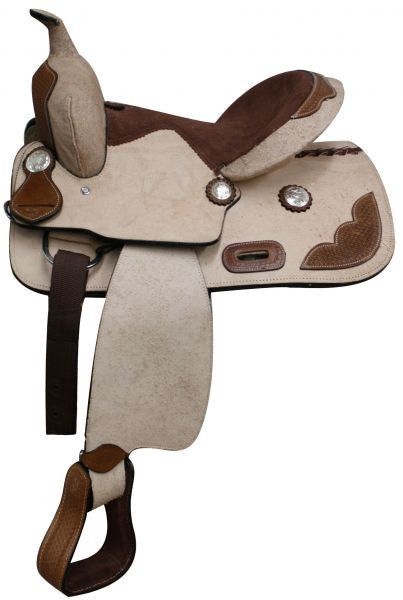 "13"" Youth Rough Out Leather Saddle - 302513"