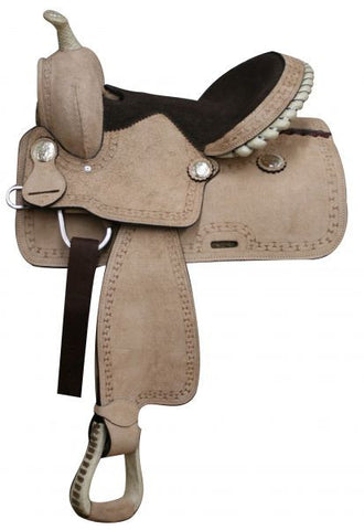 "13"" Youth Rough Out Leather Saddle - 302813"