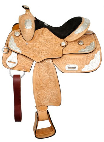 "14"" Fully Tooled Double T Youth Show Saddle - 965514"