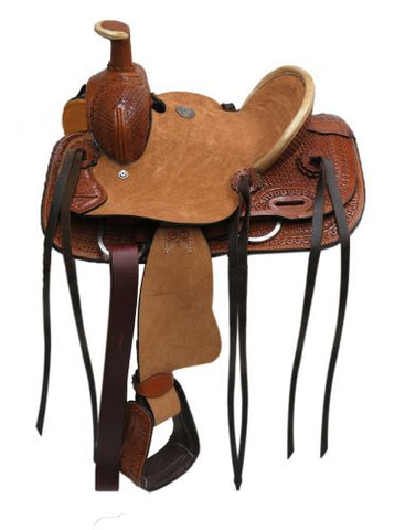 "10"" Double T Youth Hard Seat Roper Style Saddle - #1580310"