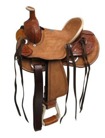 "10"" Double T  Youth Hard Seat Roper Style Saddle - #1580710"