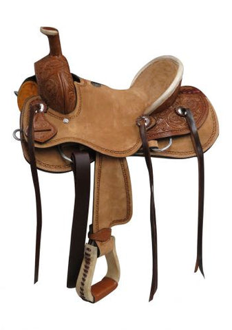 "12"" Double T  Youth hard seat roper style saddle - #1580712"