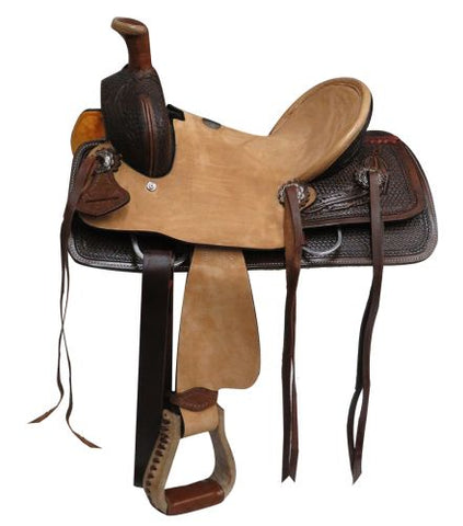 "10"" Double T  Youth Hard Seat Roper Style Saddle - #1580810"