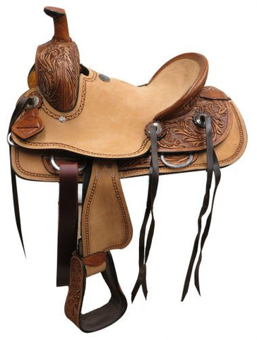 "12"" Double T  Youth Hard Seat Roper Style Saddle - #1581412"