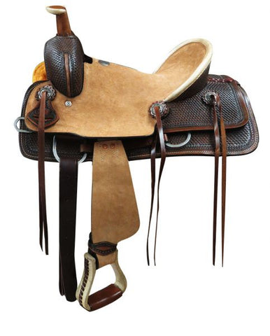 "12"", 13"" Double T  Youth Hard Seat Roper Style Saddle - #15827"