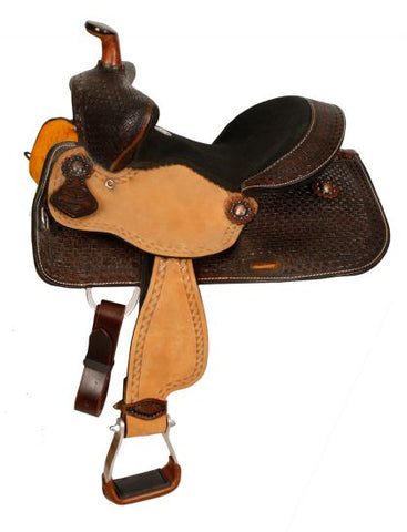 "12"" Double T  Youth Bear Trap Style Saddle - #1583512"