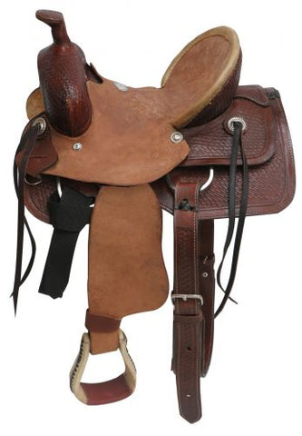 "12"" Buffalo Youth Hard Seat Roper Style Saddle - #16312"