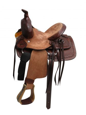 "10"" Buffalo Hard Seat Pony/youth Saddle - #16510"