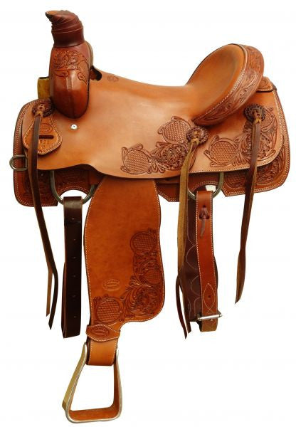 Showman Argentina Cow Leather Roper Saddle - 662316
